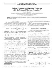 On One Combinatorial Problem Concerned with the Notion of ...