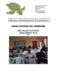 2005 Akassa National Development Plan - pro natura international ...