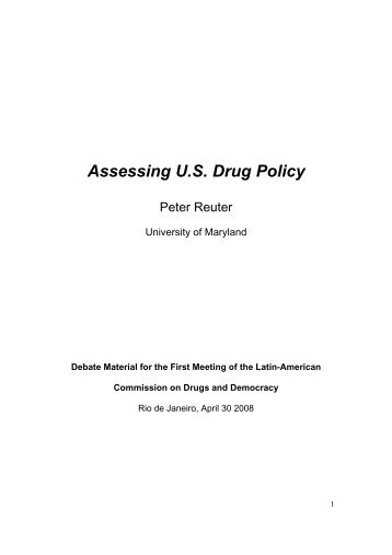 Assessing U.S. Drug Policy - Global Initiative for Drug Policy Reform
