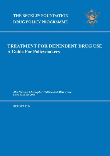 Beckley Report 10.indd - Global Initiative for Drug Policy Reform