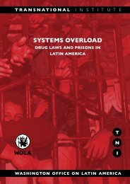 Systems Overload: Drug Laws and Prisons in Latin America