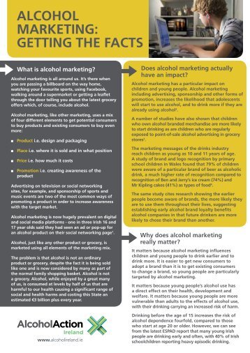 alcohol marketing: getting the facts - Alcohol Action Ireland