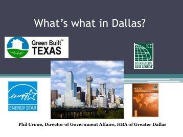 What's what in Dallas? - Dallas Builders Association Dallas Builders ...