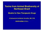 Toxins from Animal Biodiversity of Northeast Brazil - IPD-Farma