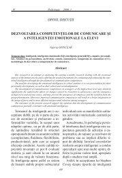dezvoltarea competenţelor de comunicare şi a inteligenţei ...