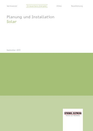 Planung und Installation Solar