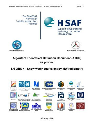 Algorithm Theoretical Baseline Document (ATBD) - H-SAF