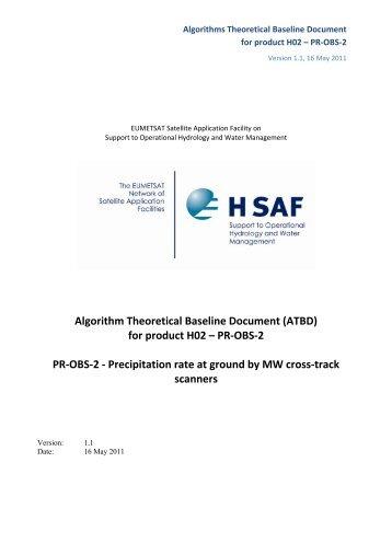 Algorithm Theoretical Baseline Document (ATBD) for ... - H-SAF