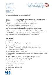 Protokoll der Mitgliederversammlung IVR 2012 Ort: Eulachhallen ...