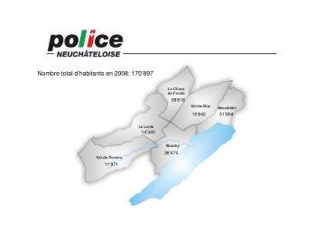 Nombre total d'habitants en 2008: 170'897 - IVR-IAS