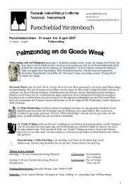 Parochieberichten 31 maart t/m 6 april 2007 Palmzondag