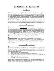 Die Modifikation des Beamtenrecht* - snk-ra.de