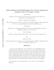Solar abundances and helioseismology: fine structure spacings and ...