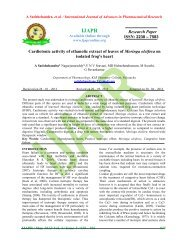 ijapr - international journal of advances in pharmaceutical research