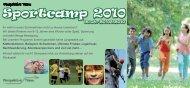 PDF Flyer Sportcamp 2010 - Perspektive-Team