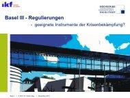 Problematik der Bankenregulierung - Ikf-online.de