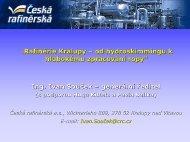 Od hydroskimmingové rafinérie ke komplexní - Česká rafinérská, as