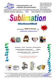 """""""Sublimation auf Baumwolle?"""" ! - Computergrafik und optische ..."""