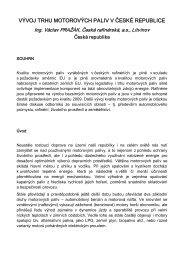 vývoj trhu motorových paliv v české republice - Česká rafinérská, as