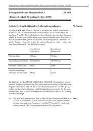 """""""Finanzwirtschaft: Grundlagen"""", Kurs 41500 Aufgabe 1"""