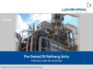 Pre-Owned Oil Refinery Units - Lohrmann