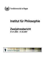 Philosophie - FernUniversität in Hagen