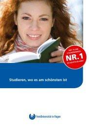 Studieren, wo es am schönsten ist - FernUniversität in Hagen