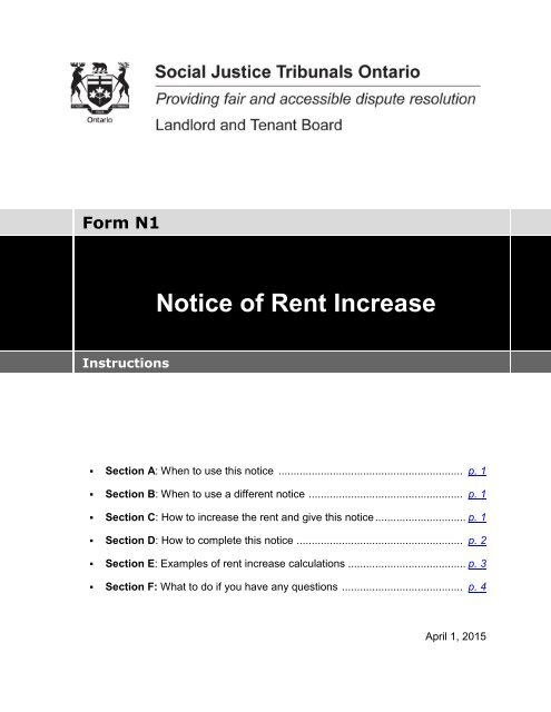 notice for rent increase