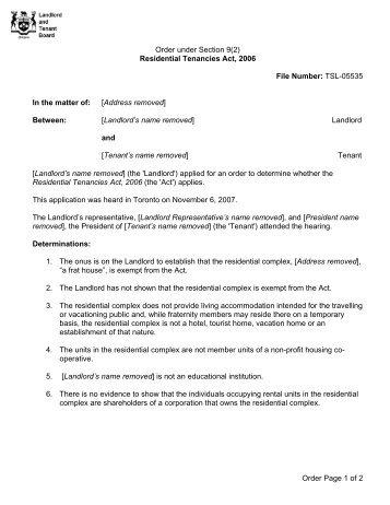 full-text (eng) - Landlord Tenant Board - Ontario