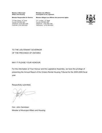 2005-2006 - Landlord Tenant Board - Ontario
