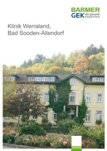 Klinik Werraland - Bad Sooden-Allendorf  ( PDF , 303 KB - Barmer GEK