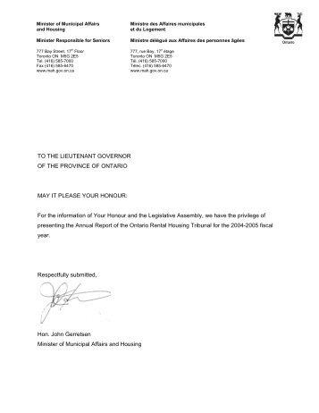 2004-2005 - Landlord Tenant Board - Ontario