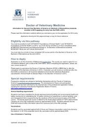 print this page - Faculty of Veterinary Science - University of ...