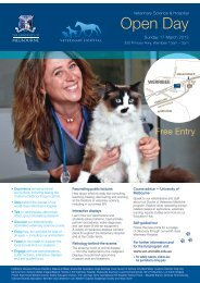 Open Day flyer (pdf) - Faculty of Veterinary Science - University of ...