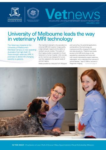 Vetnews - Faculty of Veterinary Science - University of Melbourne