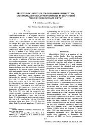 effects of clinoptilolite on rumen fermentation ... - Zeolite Products