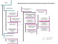 Reporting Lines for Critical Faculty of Veterinary Science Committees