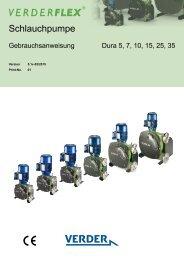 Peristaltische Industrieschlauchpumpe - Verderflex