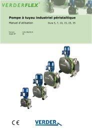 Pompe à tuyau industriel péristaltique - Verderflex