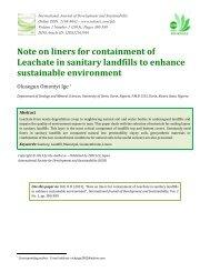 Note on liners for containment of Leachate in sanitary landfills to ...