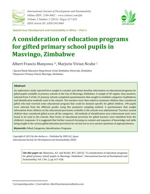education programs for gifted