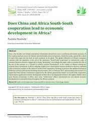 Does China and Africa south-south cooperation lead to economic ...