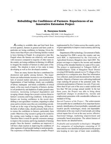 Rebuilding the Confidence of Farmers- Experiences of ... - Seea.org.in