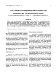 Impact of New Technologies on Soybean at Farmers ... - Seea.org.in