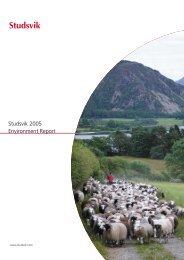 Studsvik 2005 Environment Report