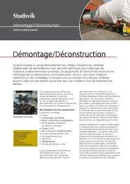 Démontage/Déconstruction