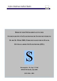 Bericht - SEI - Studiengruppe für Elektronische Instrumentierung