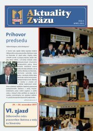 VI. zjazd - Odborový zväz pracovníkov školstva a vedy na Slovensku