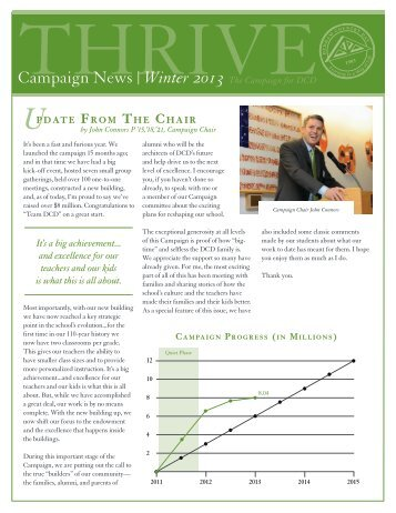 Winter 2013 Newsletter - Dedham Country Day School