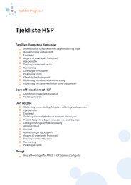 Tjekliste HSP - Foreningen for ATAKSI / HSP